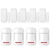 433MHz Intelligent Wireless Door Gap Window Sensor Detector Wireless PIR Motion Sensor Passive Infrared Detector For