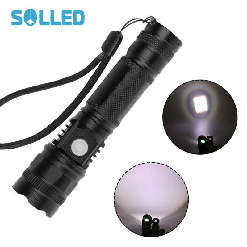 Lights & Lighting Solled T6 Led Flashlight Spot Lamp High Power Portable 3 Models Zoomable Camping Luminous Torch Lamp
