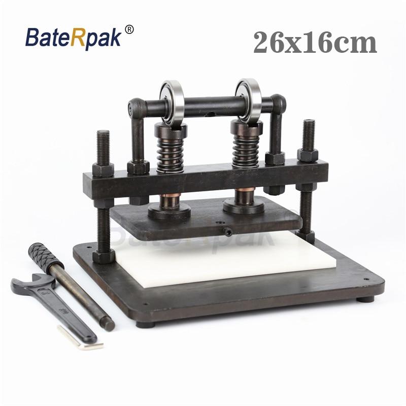 26x16 см двухколесный ручной станок для резки кожи, BateRpak фотобумага, ПВХ/Эва лист прессформы Резак, кожа высечки машины