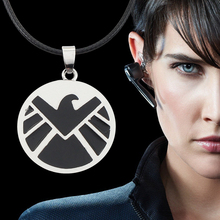 High Quality Movie Jewelry Marvel Agents Of S.H.I.E.L.D The Avengers Pendant Round Alloy Enamel Necklace Wholesale