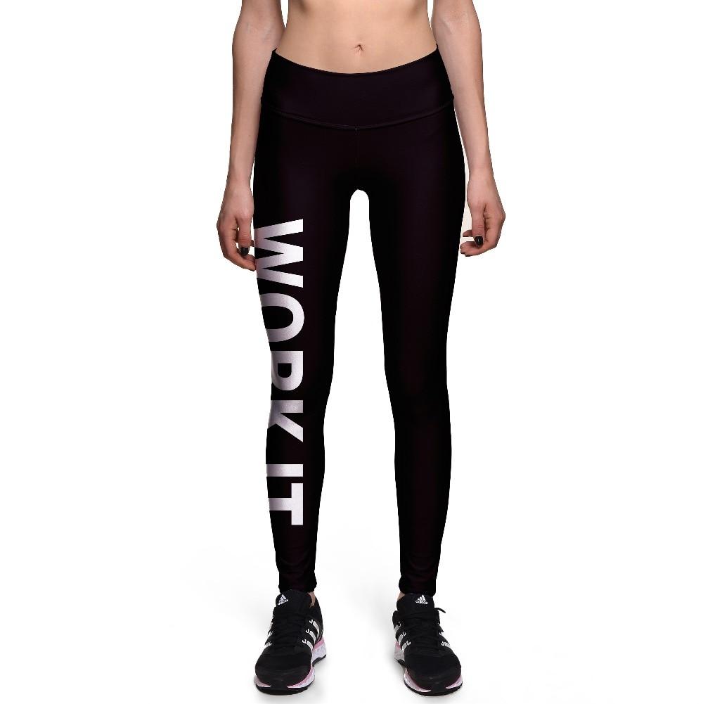 c02001de1 NOVO 0057 Hot Girl Mulheres Carta 3D Imprime Cintura Alta Em Execução  Aptidão Leggings Esportivos Jogger Calças de Yoga