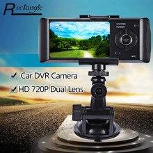 2.7 дюймов LCD Автомобильный Видеорегистратор Видеокамера HD 720 P Двойной Поворотный Объектив GPS Приборной Панели Автомобиля Видеокамера G-датчик