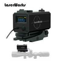 LaserWorks LE032 лазерный дальномер 700 м Бекас прицел Коврики с кронштейном Парусность высота регулируемая