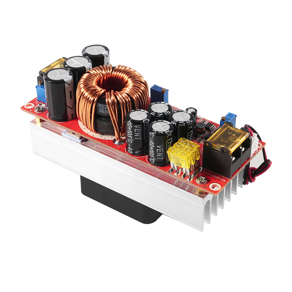 Image 2 - 1500W 30A Voltage Step Up Converter Boost CC CV Power Supply Module Step Up Constant Current Module DC DC 10 60V to 12 97VInverters & Converters   -