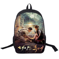 2017 New Women Bags Descendants Of The Sun Backpack Students School Bag For Teenage Girls Boys
