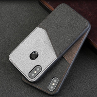 canvas texture with card slot phone case for xiaomi mix 2s magnetic adsorption canvas stitching all inclusive phone case