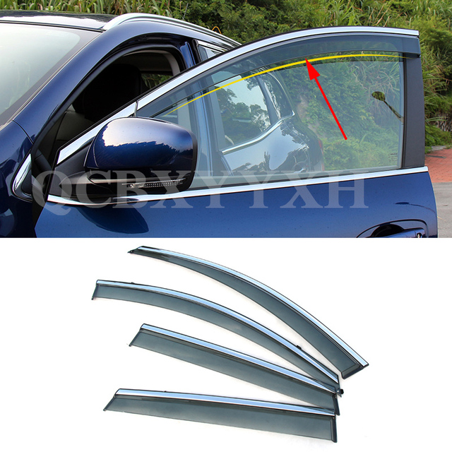 4pcs/lot Car Styling Accessories Awnings Shelters Guard Rain ...