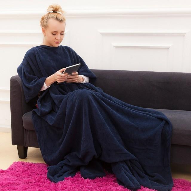 Очень мягкое Флисовое одеяло с рукавами и карманом, очень уютный Microplush носимого Бросьте Для женщин девочек взрослый удобной бросить Халат