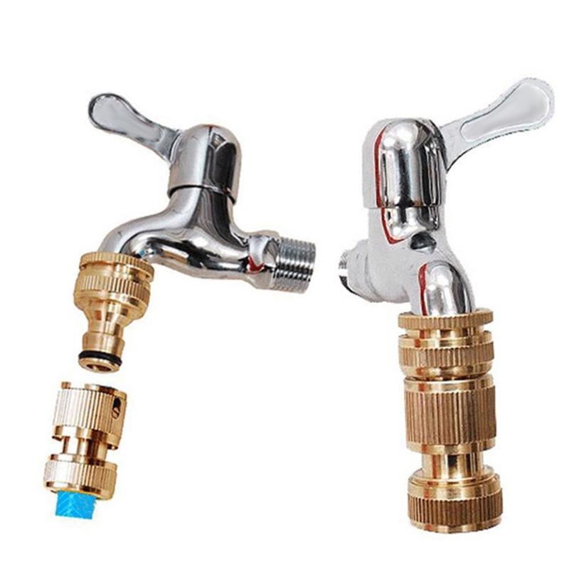 Pure Brass Faucets Standard Connector For Washing Machine Water Tap Fitting Pipe Brass Connect 25mm 20mm Thread