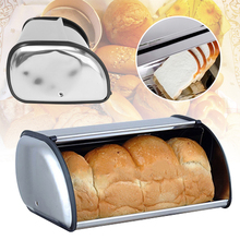1pcs Stainless Steel Durable Simple Bread Case Breadbox Storage Box for Hotel Store Home Kitchen Supplies Seasoning storage box