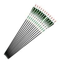 12 Pcs 5 Colors Strong Carbon Shaft Spine 500 Length 80cm 33g Arrows With True Turkey