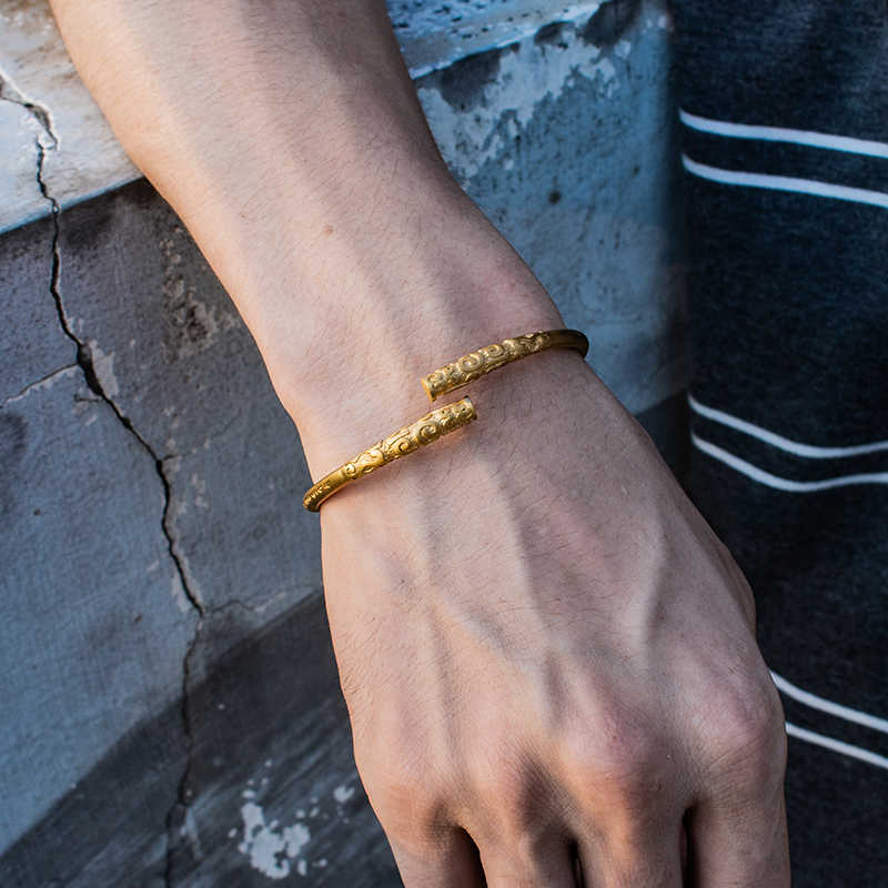 Mcllroy Retro Vintage Cuff Bracelet & Bangle For Men Women Stainless Steel Classic Unisex Viking Jewelry Pulseras Hombre 2019