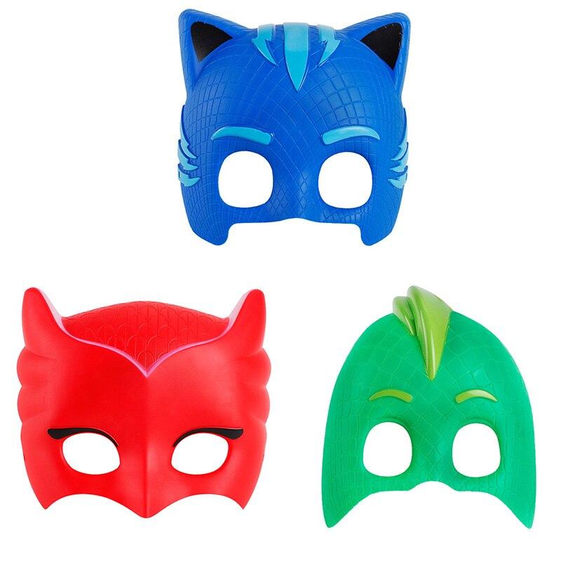 3 шт. PJ мультфильм масках Обувь для мальчиков и девочек Маски для век ABS Пластик Прохладный pyjamasques Косплэй маска Brinquedos подарок игрушка для реб...