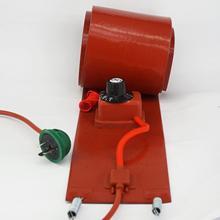 200 л(55 галлонов) 125x1740x1,6 мм 1000 Вт Гибкая Кремниевая лента барабанный нагреватель одеяло масляная бочка для биодизеля электрические провода