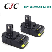 2x 18V 2500mAh Li Ion Rechargeable Battery For Ryobi RB18L25 One Plus for power tool P103