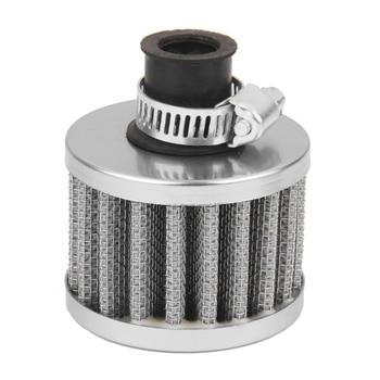 12mm filtro de aire Motor coche Turbo ventilación breather Carter gris