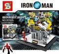 SY825 Super Heroes Мстители 2 Age Of Ultron Ironman Кольцо со сцены фигура Строительные Блоки фигурки детские lepins игрушки