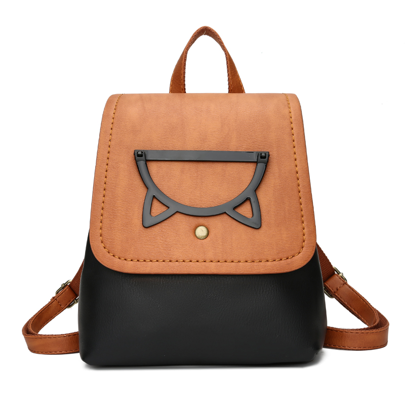 Fashion Women Panelled Backpack High Quality Youth Leather Backpacks for Teenage Girl Female School Shoulder Bag Bagpack Mochila