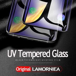 Image 2 - Lamorniea 100D S20 Ultra Uv Glas Screen Protector Met Vingerafdruk Unlock Voor Samsung Galaxy Note 10 8 9 S10 Plus s8 S9 Glas