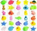 Pato estrella Starfish pingüino Múltiples formas de Colores de Goma Suave Flotador Squeeze Sonido Chillón Juguete de Baño Para Bebé Envío Gratis