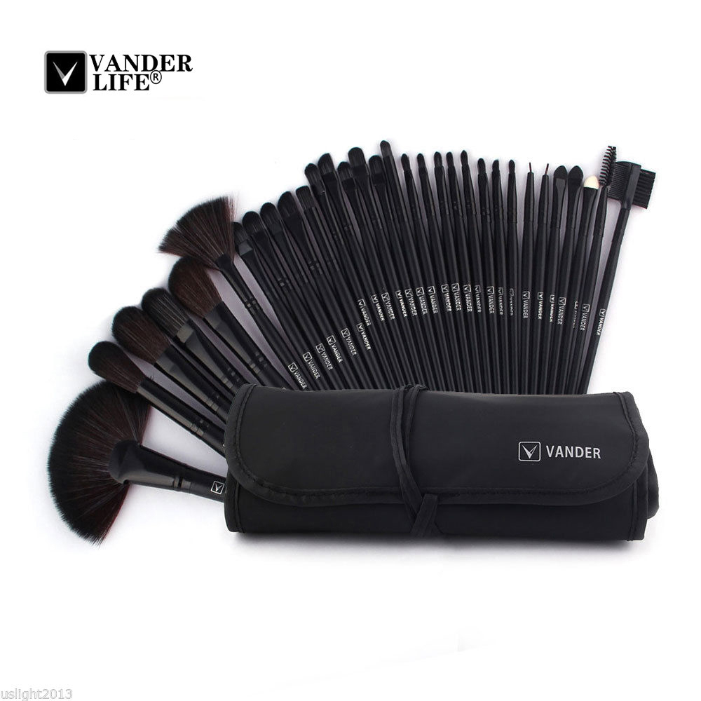 32pcs Set For Professional Beauty Makeup Brush Sets Cosmetics Foundation Shadow Tools Liner Eye Concealer Make Up Kit Pouch Bag