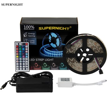 20 Colors LED Strip Light Kit 5050 SMD 5M 300LEDs DC 12V Waterproof Flexible RGB LED Lamp Band with 44 Keys IR Remote Controller free shipping waterproof led light up serving tray multi colors rechargeable luminous led trays light 24 keys remote controller