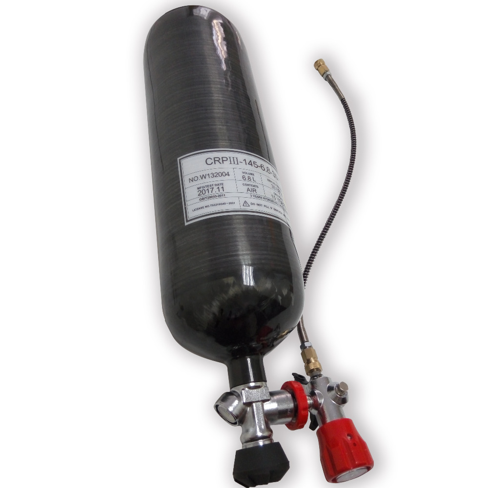 AC368301 Diving 300bar 6.8L 4500psi Gas Cylinder Acecare Air Tank Diving Cylinder Bottle Air Gun Paintbal Security & Protection