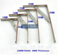 155 × 300ミリメートルaisi304ステンレス鋼棚ホルダーブラケット、三角商品棚、壁の棚、棚支持フレーム