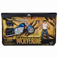 2018 Marvel Legends Series 6 Wolverine With Motorcycle Action Figure Logan Races One eyed Unmasked Head Claw Hand Collectible