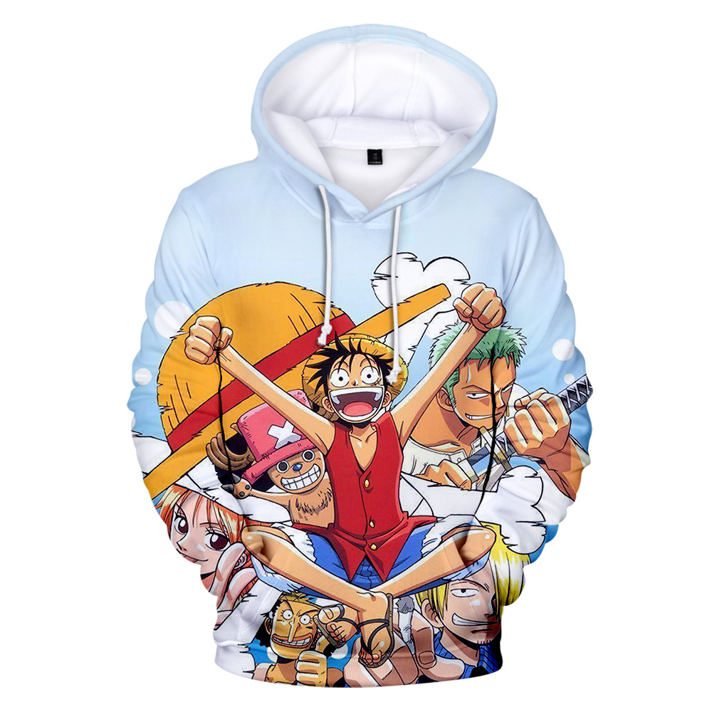 Aikooki New One Piece 3D Hoodies Men/Women Print Monkey D Luffy Anime Hoodie Harajuku Fashion One Piece 3D Hoodie Casual Clothes