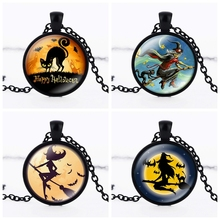 New arrival 2016 fashion black  necklace jewelry Halloween holiday necklace crystal pendant dome statement necklace HZ1