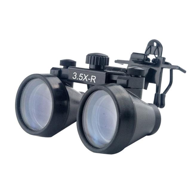 Clip-on Dental Médico Cirúrgica Lupas Binoculares Dentista 3.5x magnifier com 360-460mm Distância de Trabalho Fornecedor Livre grátis