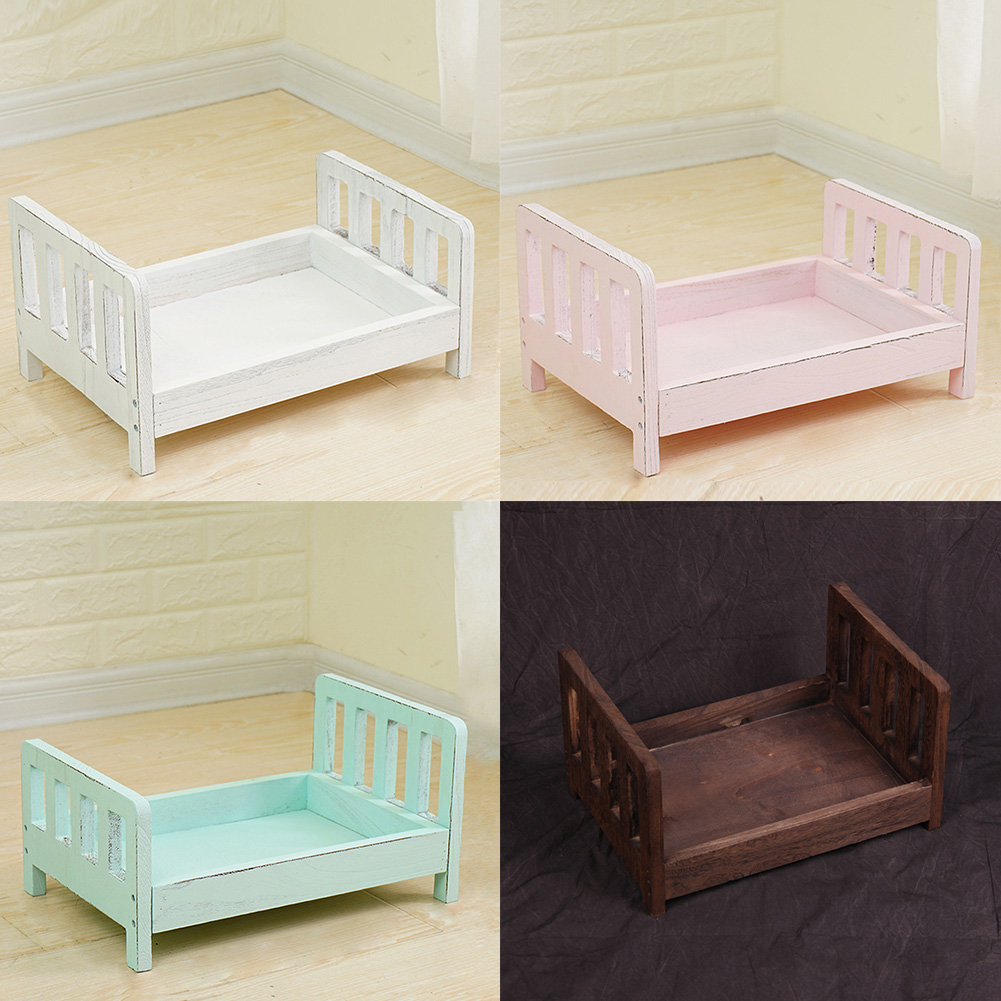 Background Props Bed-Accessories Basket Crib Wood Photo-Shoot Studio Infant Baby Newborn