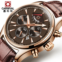 CARNIVAL Luxury Sport watch Professional diving Automatic watches with Swiss Movement Energy Display Calendar Luminous Watch men