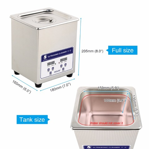 SKYMEN Digital Ultrasonic Cleaner Bath 2L 60W 40kHz for Medical and Dental Clinics, Tattoo Shops, Scientific Labs and Golf Lahore