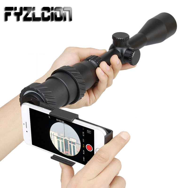 Airgun Air Rifle Sight Adapter Mount Cell Phone Adapter Mount Monocular Camera Telescope Bracket For All