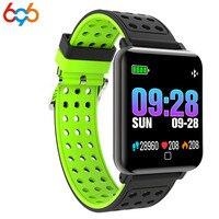 696 2018 Blood Pressure Smart Watch Men Heart Rate Sports Watch Pulse Meter Swimming Bracelet Waterproof Bluetooth Clock for Wom