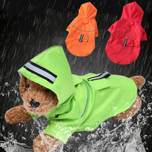 Dog Raincoat Hooded Puppy Reflective Waterproof Outdoor Small Mesh Medium Breathable