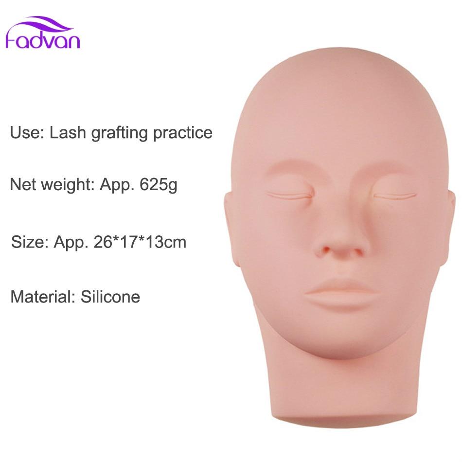Тренировочный манекен с плоской головкой, 1 шт., макияж, наращивание ресниц, инструменты для наращивания ресниц, макияж FADVAN