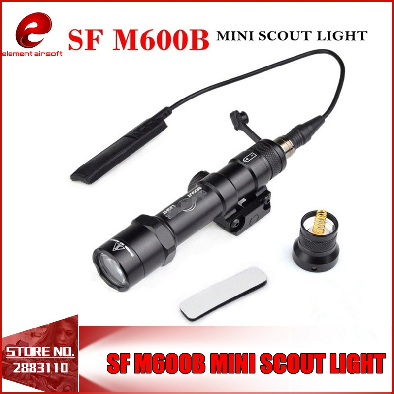Element SF M600B Mini Scout Light For Tactical Gun Flashlight LED Weapon Light Pistol Flashlight With Remote Tail Switch EX410 цена 2017
