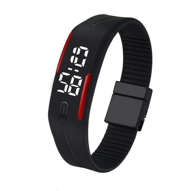 BAOLANDE watch women 2018 Hot Sale Mens Womens Rubber LED Watch Date Sports Brac