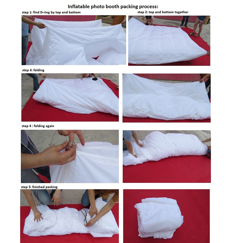 How to fold inflatable photo booth