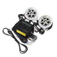 Vehemo горячий звук аудио Радио Системы Руль управления для мотоциклов FM IPOD стерео 2 Колонки для Двигатель цикл квадроцикл 12 В 30 Вт