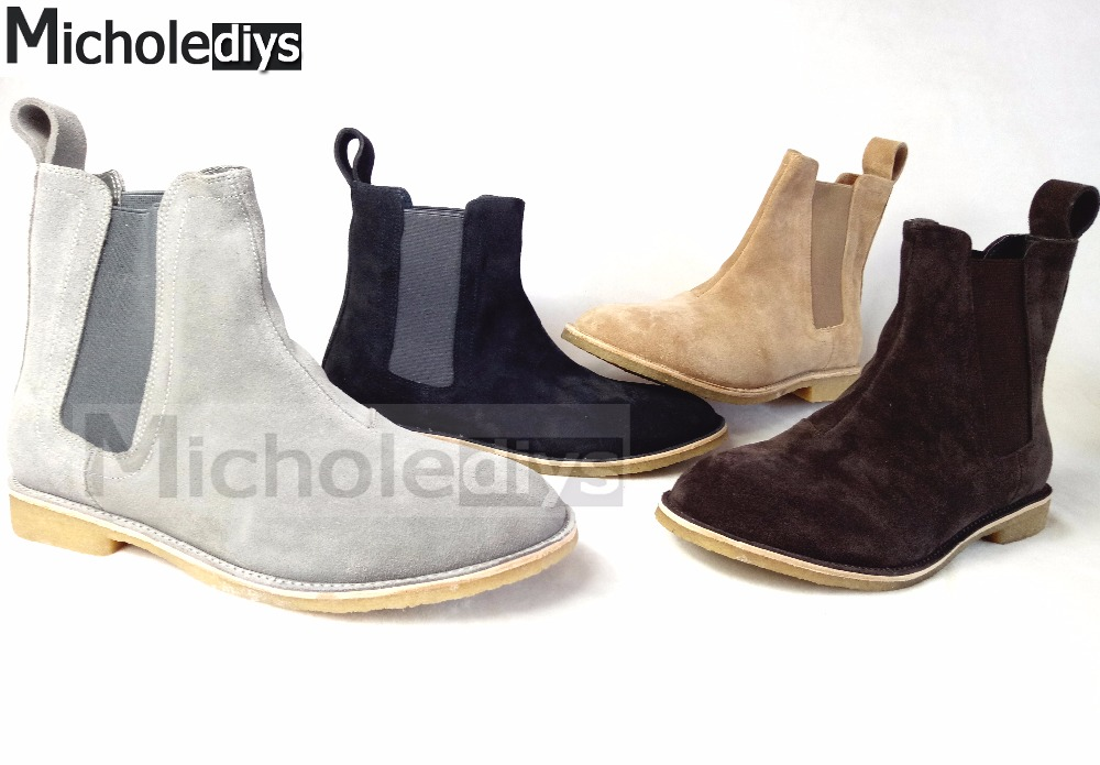 90d614d8dd2 Fashion Chelsea boots All matching Kanye west boots Yeezus Vintage ...