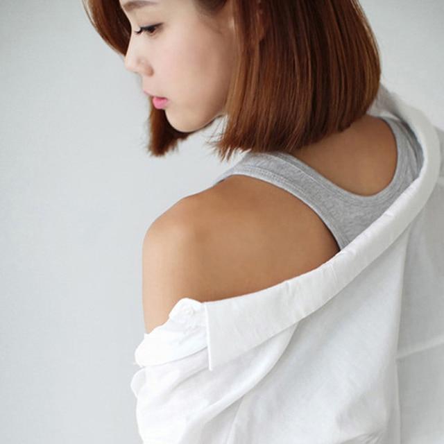 Jinsen Aite grande taille L-5XL Modal court débardeur pour dames décontracté hauts Femme mode Sexy hauts filles Camisole Haut Femme JS255