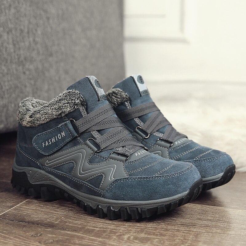 Chaud Peluche Mode Travail Cheville Chaussures Bottes D'hiver Hommes 39 46 Nouveau Avec gray Neige Black Occasionnels xBFgXnq