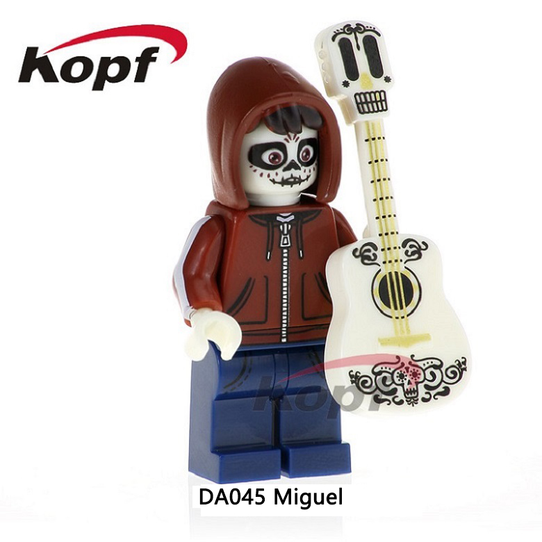 Building Blocks Single Sale Miguel Hector The Day Of The Dead Coco Movie Super Heroes Bricks Education Toys for children DA045 single sale building blocks super heroes bob ross american painter the joy of painting bricks education toys children gift kf982