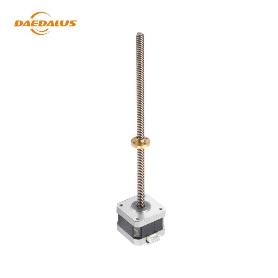 Daedalus 3D Printer Linear Stepping Motor Nema 17 42 Stepper Motors With T8 Screw Length For CNC Milling Machine