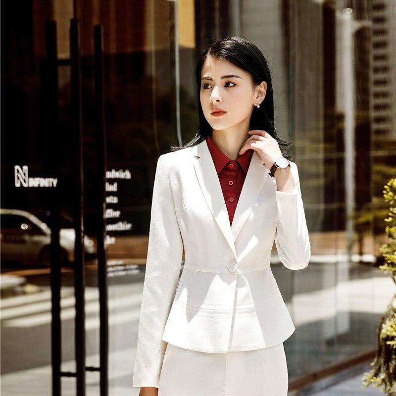 High Quality Fabric Women Business Blazers Office Work Wear Ladies Jackets Coat Long Sleeve Female Tops Outwear Fashion Striped
