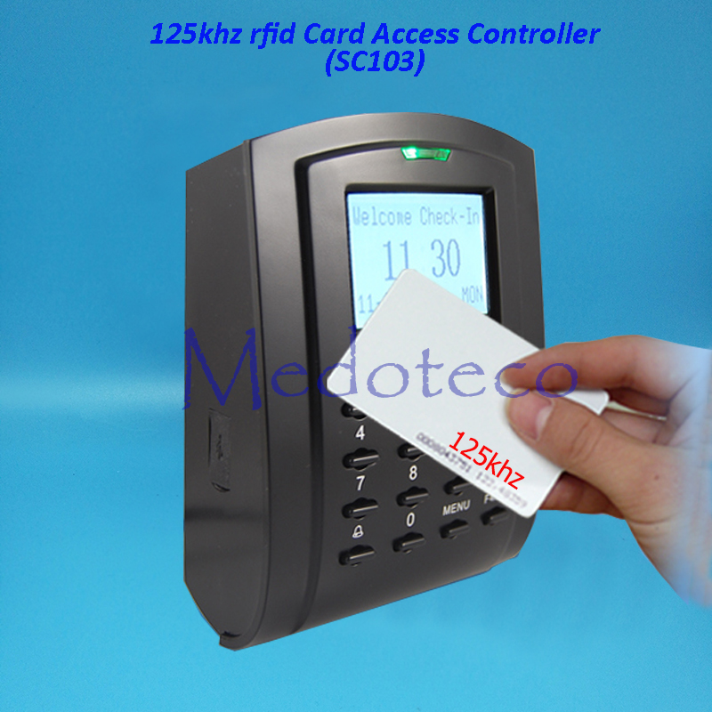 SC103 125khz RFID Proximity Card Access Control System RFID/EM Keypad Card Access Control Door Opener 5pcs lot free shipping outdoor 125khz em id weigand 26 proximity access control rfid card reader with two led lights